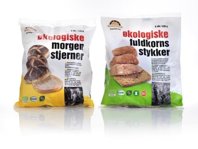 Økologisk morgenbrød frost emballagedesign – Mecklenburger