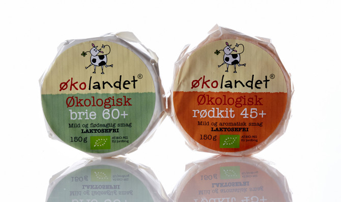Økolandet økologisk brie emballagedesign – Falengreen