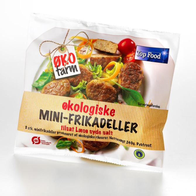 Emballagedesign ØkoFarm økologiske frikadeller – Top Food