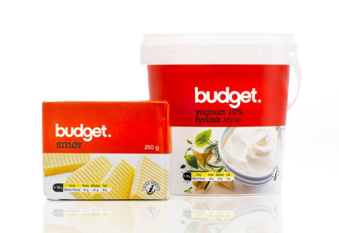 Budget Smør og Tyrkisk Yoghurt  Emballagedesign – Dansk Supermarked