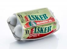 Vi ælsker æg økologi emballagedesign