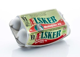 Vi aelsker eggs Organic Packaging Design – Hedegaard