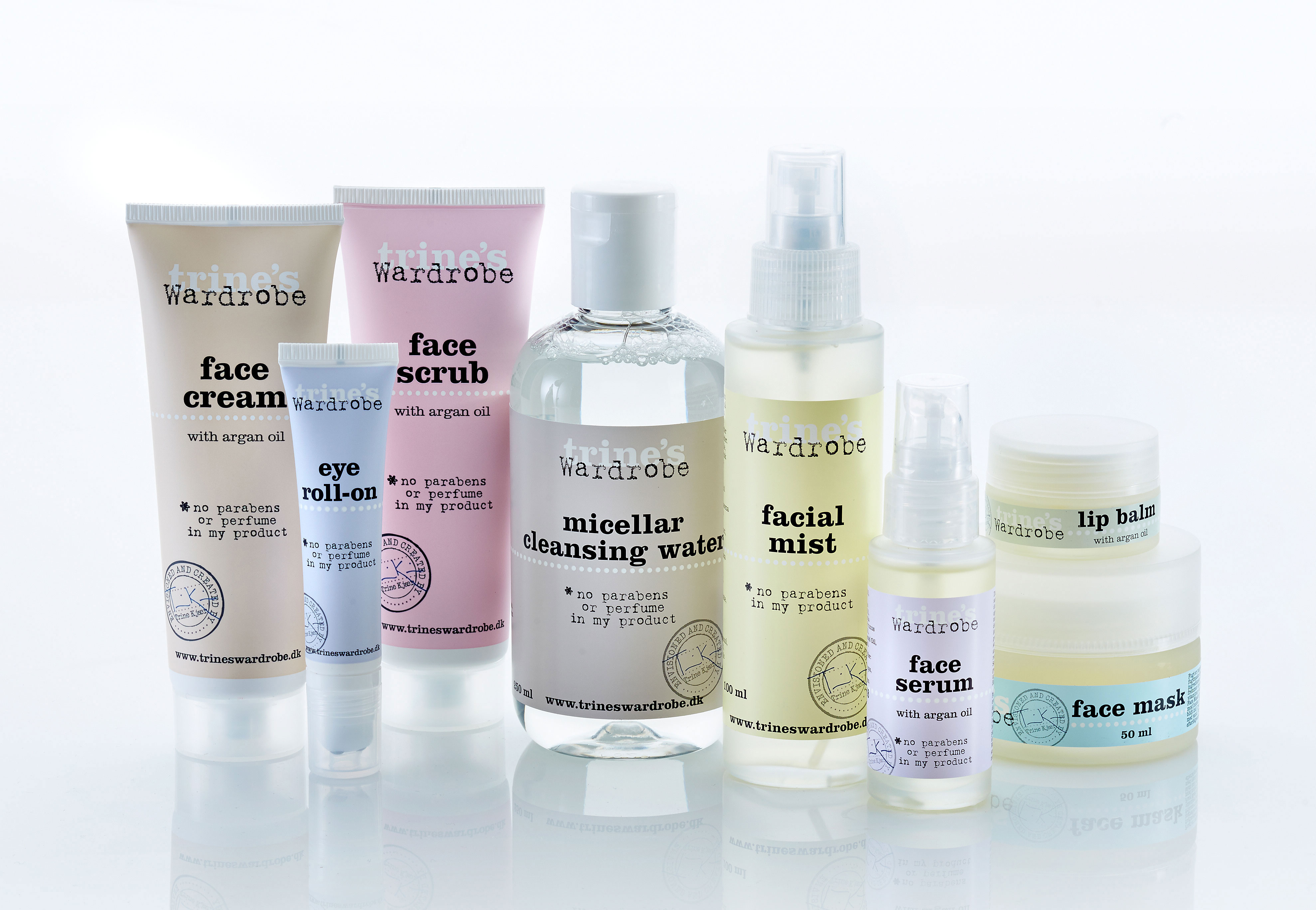 Trines Wardrobe Skincare collection Verpackungsdesign