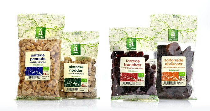 Änglemark snacks private label emballagedesign