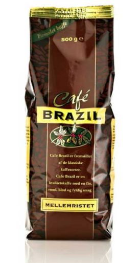 Cafe Brazil Kaffee Private Label Verpackungsdesign – Dansk Supermarked