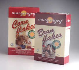 Morgengry Branflakes Private Label Verpackungsdesign – Dansk Supermarked