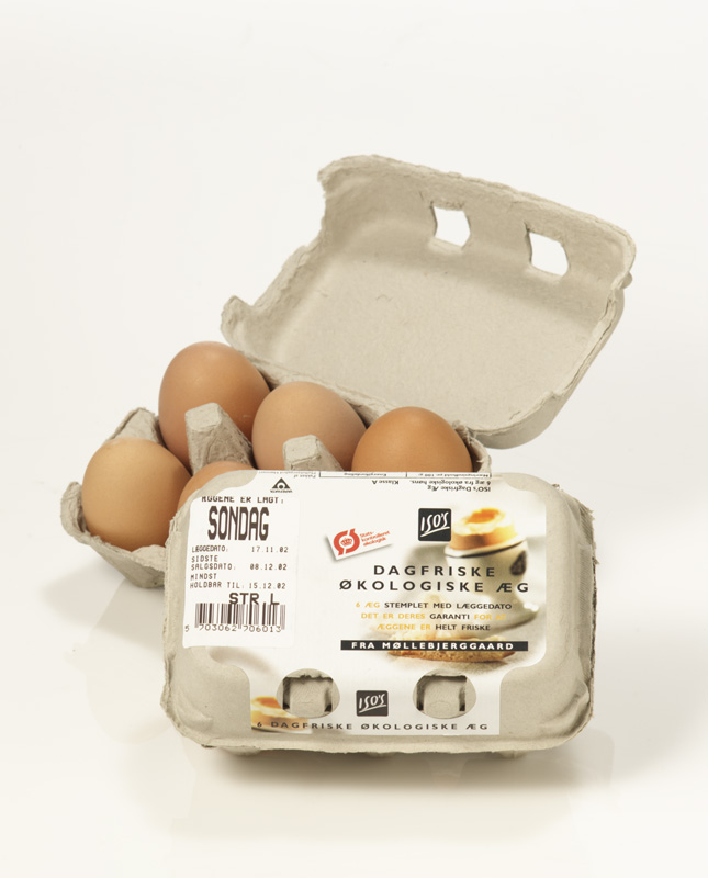 Emballagedesign økologiske æg private label – ISO Supermarked