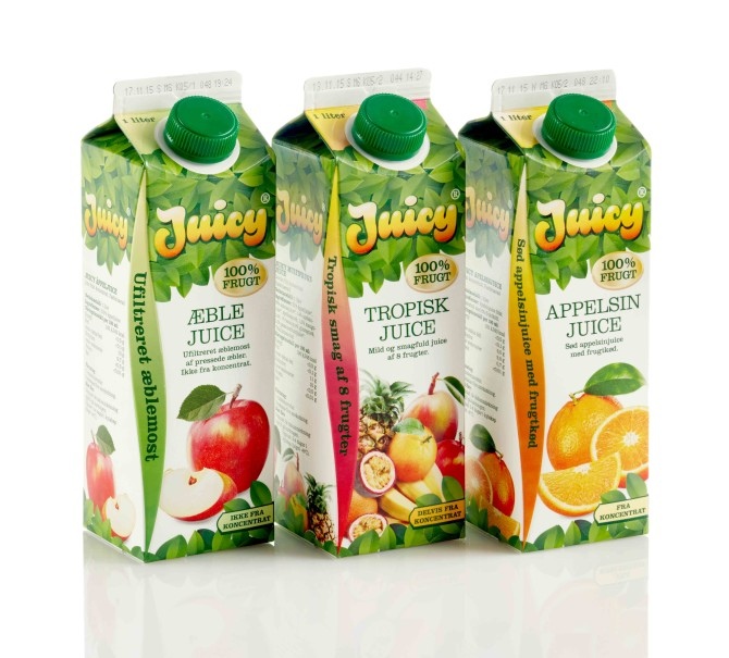 Juicy Tropisk Juice Emballagedesign – Falengreen
