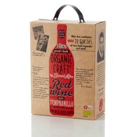 Emballagedesign til Organic Craft Wine – økologisk bag in box vin