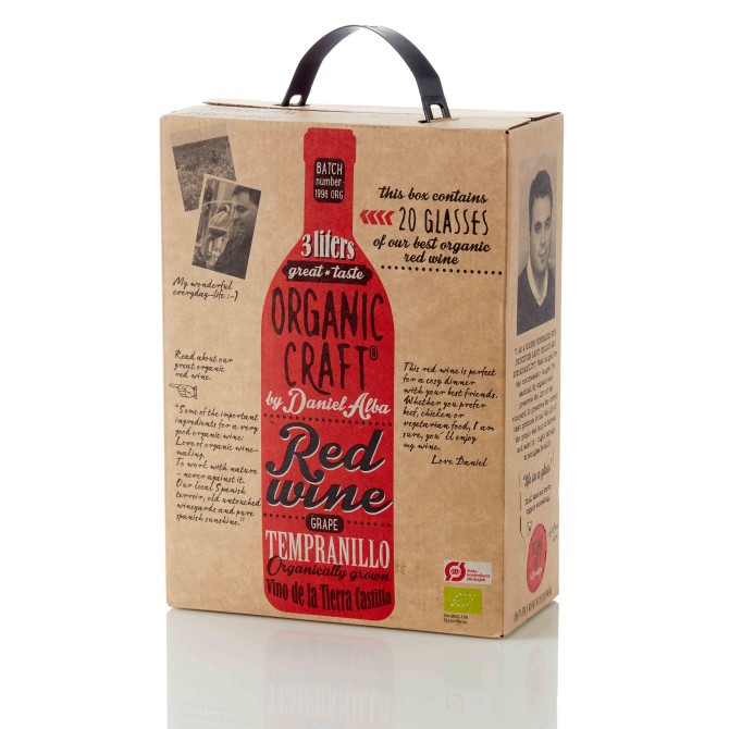 Emballagedesign til Organic Craft Wine – økologisk bag in box vin