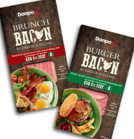 Emballagedesign Brunch- og Burger kyllingbacon – Danpo