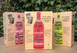 Emballagedesign Organic Craft økologisk vin brand i Fakta