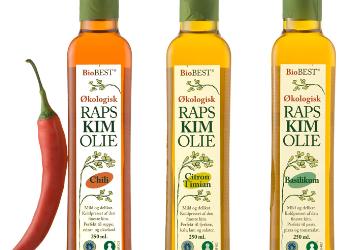 Emballagedesign økologisk rapskimolie BioBest – Nordlie Food