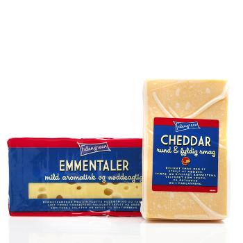 Cheddar Emmentaler emballagedesign – Falengreen