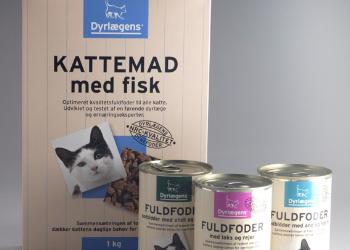 Emballagedesign til Dyrlægens kattemad private label – Dansk Supermarked