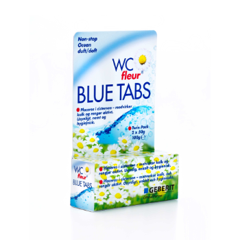 WC fleur Blue Tabs emballagedesign – Buck Chemie
