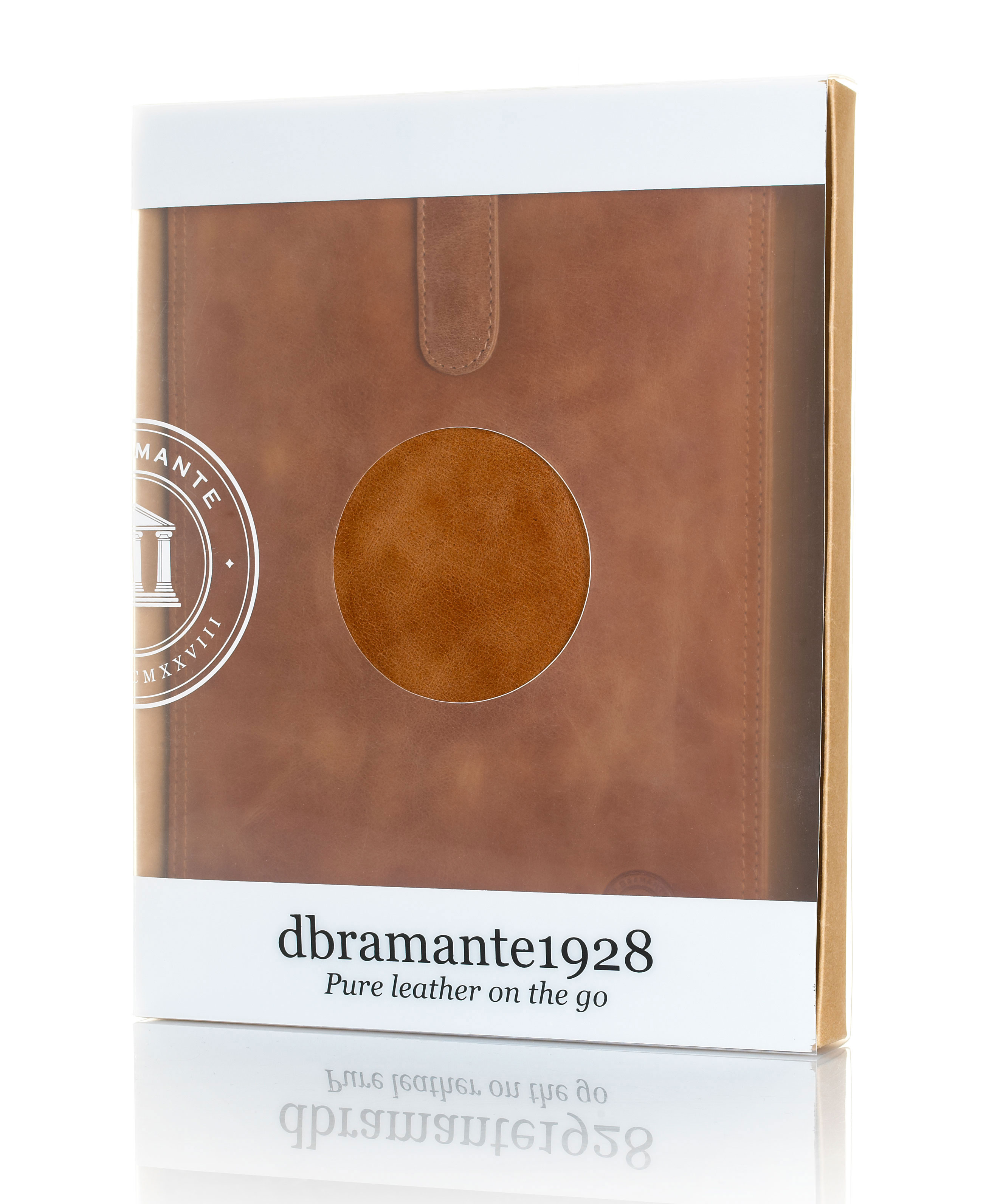 Pure leather on the go for electronic devices Packaging Design – Dbramante 1928