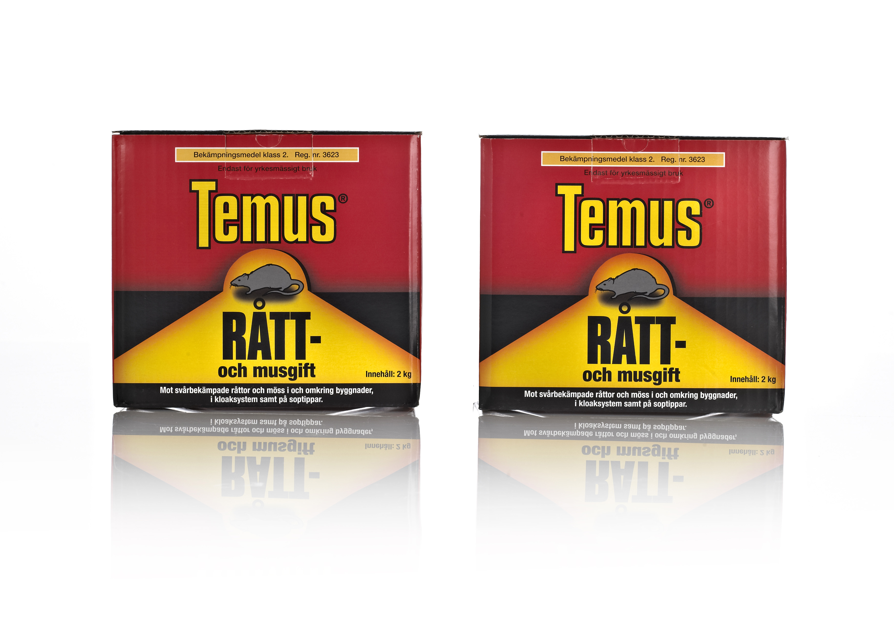 Temus Rat and mouse poison Packaging Design