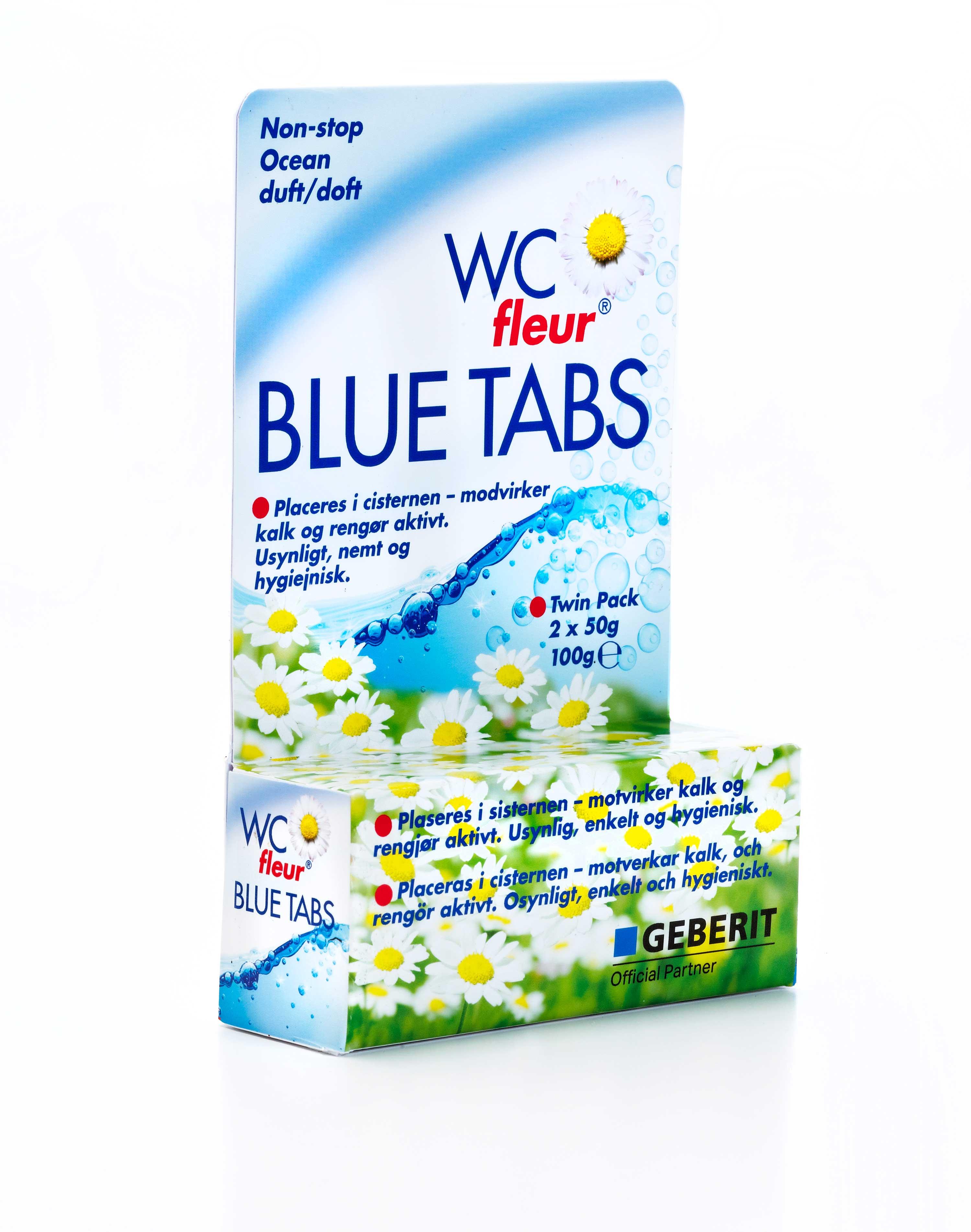 WC fleur Blue Tabs Packaging Design – Buck Chemie