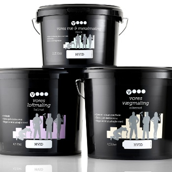 Emballagedesign til Vores Maling for Dansk Supermarked af Pack Design