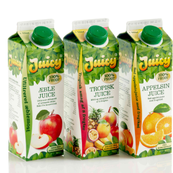 Juicy Tropical Juice  Verpackungsdesign – Falengreen