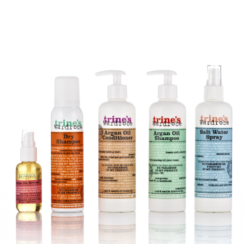 Trines Wardrobe Haircare Packaging Design