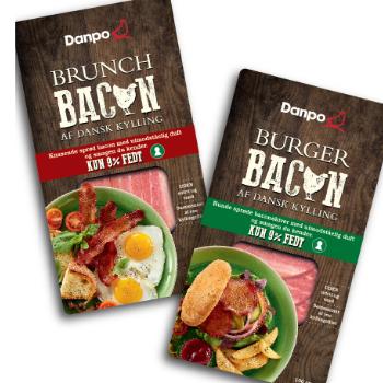 Emballagedesign til Brunch og Burger Kyllingbacon fra Danpo