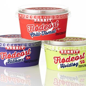 Cream Cheese Packaging Design – Barrit Mejeri