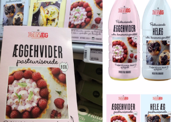 Emballagedesign til serie med pasteuriserede æg fra Danæg af Pack Design