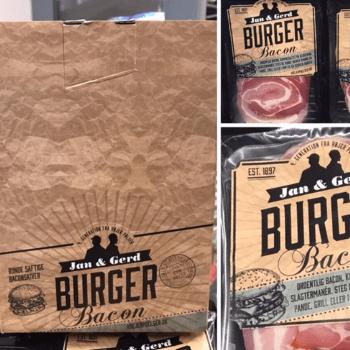 Emballagedesign til Jan & Gerd Burger Bacon for Højer Pølser af Pack Design