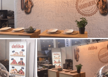Design af messe elementer for Delika af Pack Design