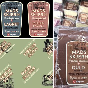 Emballagedesign til Mads Skjern oste af Pack Design