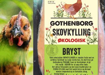Emballagedesign til økologisk skovkylling fra Gothenborg
