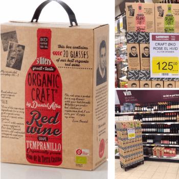 Emballagedesign til Organic Craft for Hammeken Cellars til Fakta.