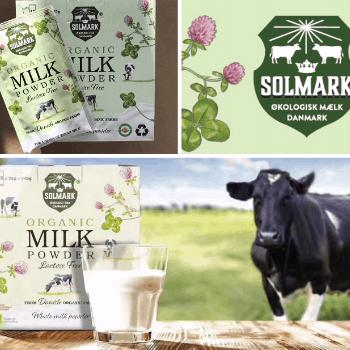 Emballagedesign til dansk økologisk laktosefri mælkepulver til Kina.