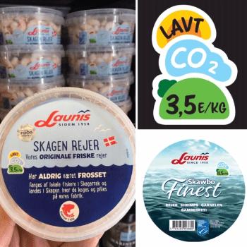 Emballagedesign til nyt klimamærke (co2aftryk) fra Launis.